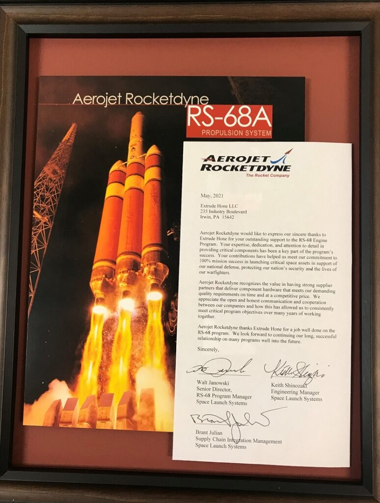 来自 Aerojet Rocketdyne 的赞赏
